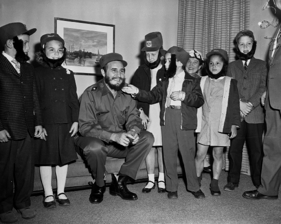 Fidel Castro meets Schoolchildren